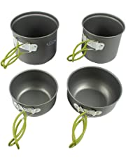 Outdoor Nonstick Camping Cooking Bowl Pots Pans Portable Hiking Cookware Kit