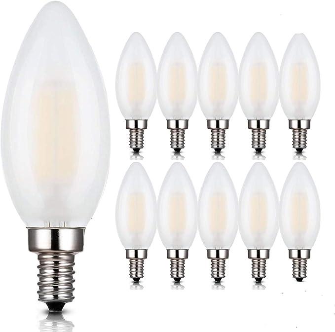 1pcs E12 E14 E27 Dimmable W 6W 9W Sharp LED Chandelier Candle Light Bulb     R