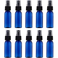 10 Pieces 30ml Spray Bottles Atomiser Fine Mist Spray Bottles Set Plastic Cosmetic Bottles