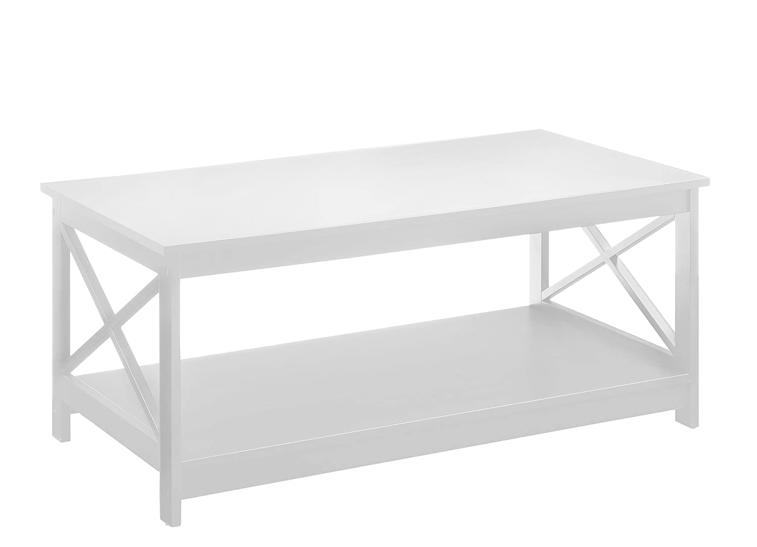Incroyable Amazon.com: Convenience Concepts Oxford Coffee Table, White: Kitchen U0026  Dining
