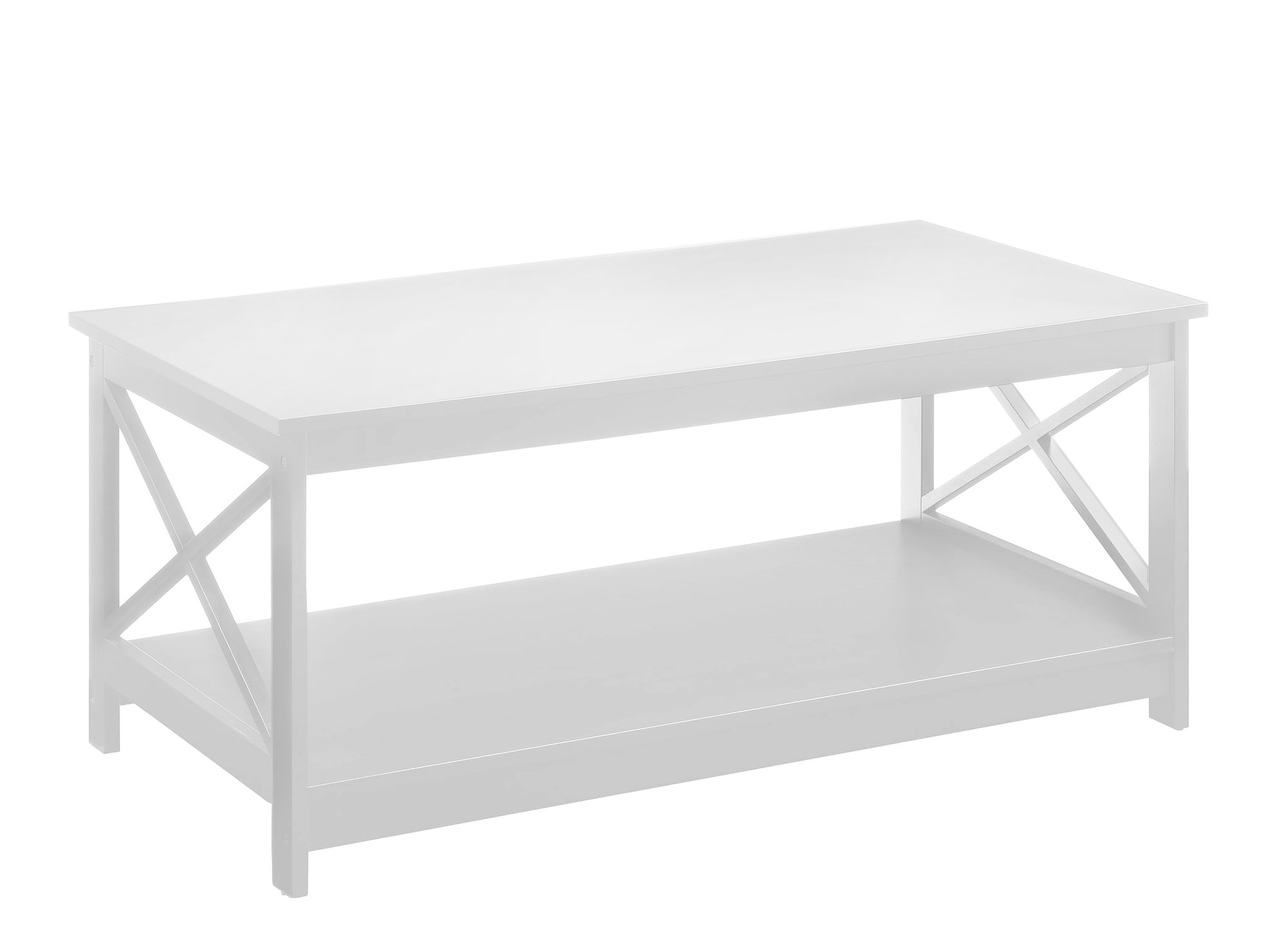 Convenience Concepts Oxford Coffee Table, White by Convenience Concepts