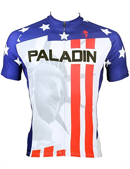 Amazon.com   LAOYOU United States Star Short Sleeve Cycling Jersey ... 8b21cc8ef