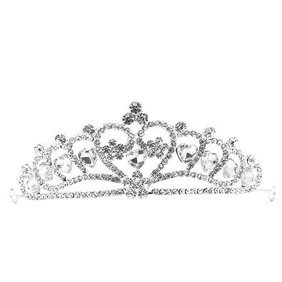 Crystal Rhinestone Wedding Bridal Diamante Crown Tiara Headband Hair Band Gift