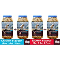 Meat Up Chicken Flavour, Real Chicken Biscuit, Dog Treats -500g Jar (Buy 1 Get 1 Free) & Meat Up Mutton Flavour, Real Chicken Biscuit, Dog Treats -500g Jar (Buy 1 Get 1 Free)