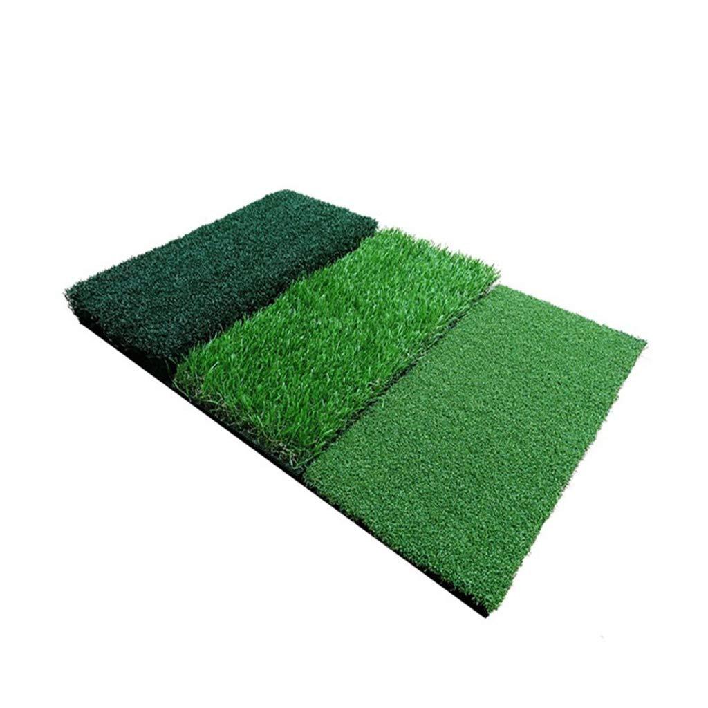 ゴルフフード ゴルフマット、ゴム製折りたたみパッド3草切削ポールスイングトレーニングボールカーペット   B07MDZD2GC