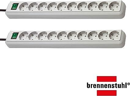 Regleta de enchufes Brennenstuhl Eco-Line para 10 enchufes, con ...