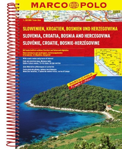 Slovenia/Croatia/Bosnia Marco Polo Road Atlas...