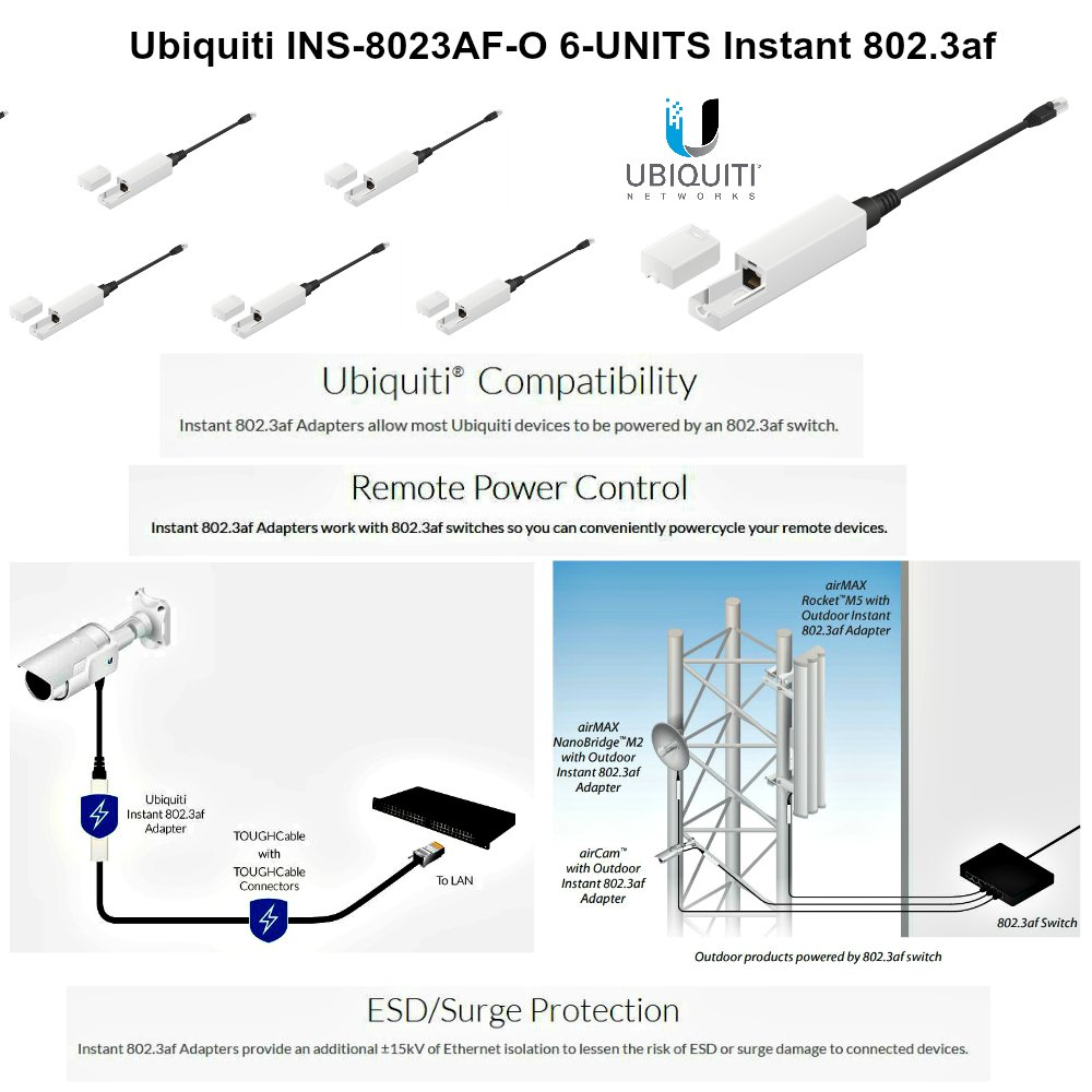 Ubiquiti Ins 8023af O 6 Units Instantly Wiring Diagram Transform Any Poe Device Computers Accessories