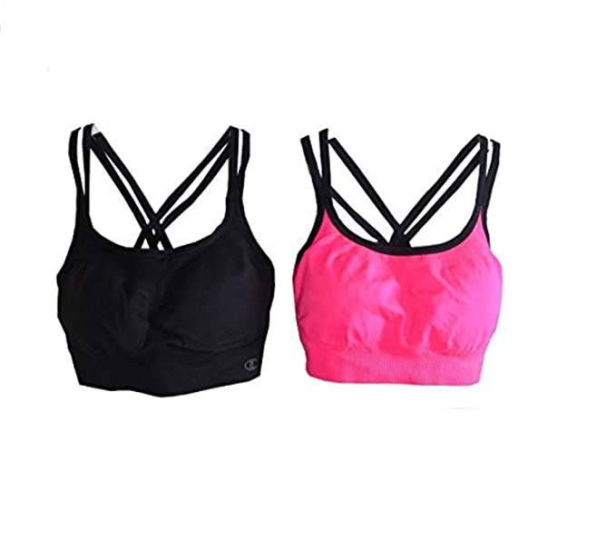 fcfd855ebc9bf Image Unavailable. Image not available for. Color  Champion 2 Seamless  Criss Cross Bras ...