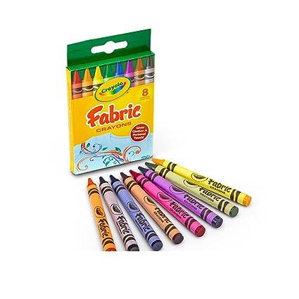 amazon com crayola 8 count fabric crayons toys games