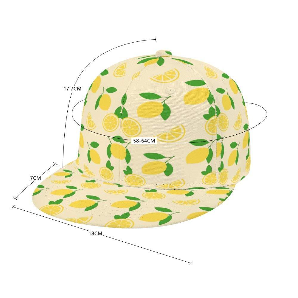 Liyingshun Lemon Pattern Unisex Colorful Floral Print Baseball Cap Adjustable Dad Hats Hip Hop Hats