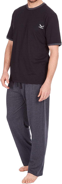 Insignia Uomo Set Pigiama Top Manica Lunga /& Pantaloni Pigiama di Cotone