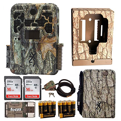 Browning Recon Force FHD Extreme Trail Camera + Lockbox + Cable + 2 Cards + Focus Reader + Battery Pack + AAs