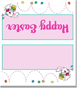 Stonehouse Collection Happy Easter Place Cards - 25 Easter Bunny Name Cards - Table Tents - Small Gift Cards (Easter Bunny)