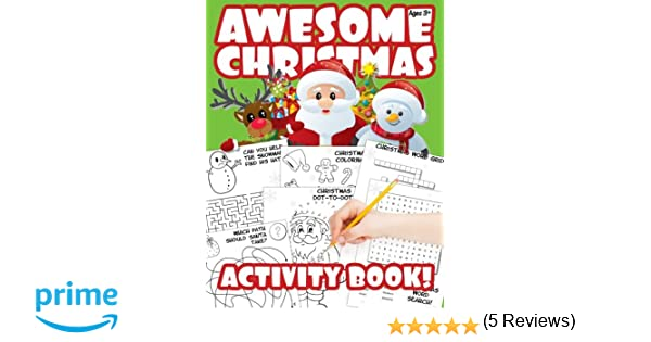 Workbook christmas kids worksheets : Awesome Christmas Activity Book!: A Stocking Stuffer: Davies ...