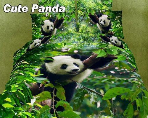 2 Decorate Dolce Mela DM434T Cute Panda Twin Cotton Duvet...