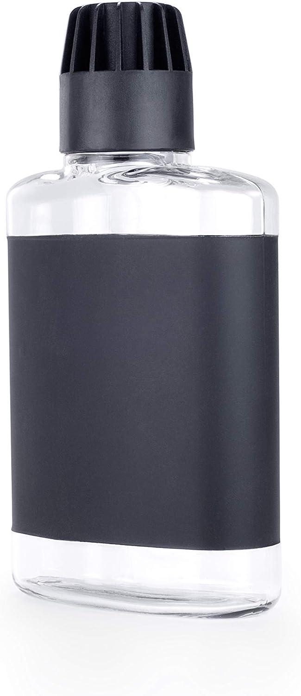 Gsi Outdoors Unisexs Flask 10-Ounce fl Black oz Clear