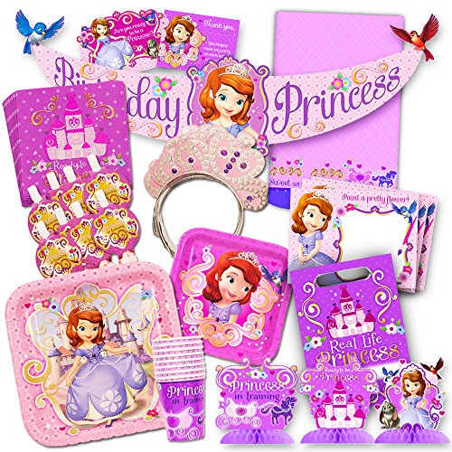 Disney Sofia the First Party Supplies Value Set-- Birthday Party Plates, Cups, Napkins and More! -