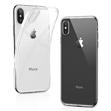 humixx Funda iPhone XS/iPhone X,Carcasa Crystal Clear Funda de Gel de Silicona Suave TPU con Revestimiento de Parachoques Protección Slim Shock Bumper ...