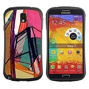 """Hypernova Slim Fit Dual Barniz Protector Caso Case Funda Para Samsung Note 3 [Arte brillante Colores Geometría""""]"""