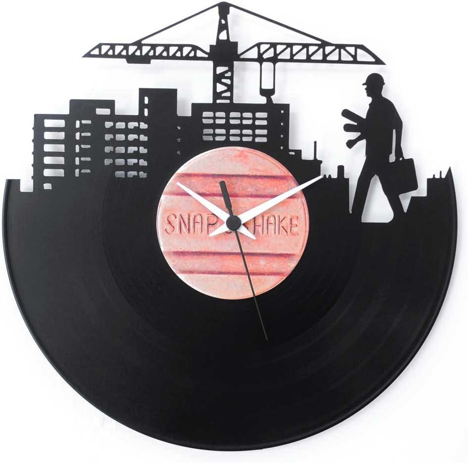 Regalo perfecto para un recién licenciado en arquitectura, reloj de diseño de vinilo negro, Vinyluse original