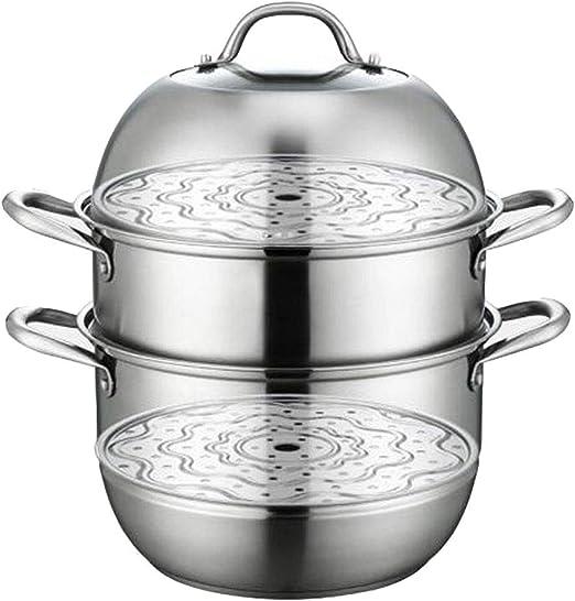 Olla de Sopa vaporera/Inoxidable Doble Vapor Estofado/Especificación:28 cm Estufa aplicable estufa de gas/cocina de inducción/estufa de cerámica eléctrica/estufa eléctrica: Amazon.es: Hogar