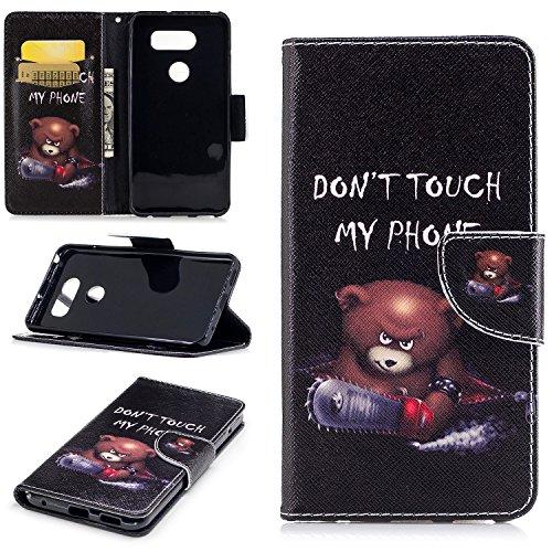 LG V30 Case, LG V30+ Case, Easytop Kickstand Feature Premium PU Leather Flip Fold Wallet Case with ID / Credit Card Slot Magnetic Closure for LG V30 / LG V30 - Price Kors Stock