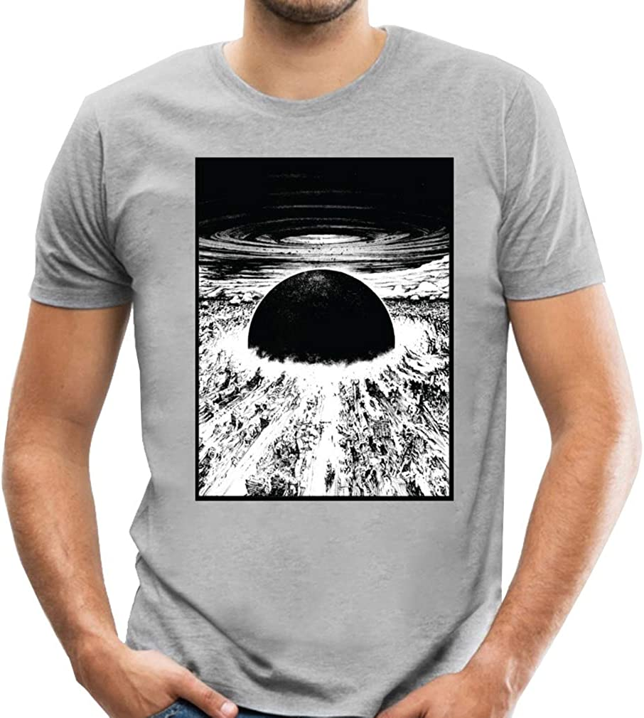 Jmgirl Akira Neo Tokyo Explosion Men S Top Fahion Tees Printed Shirts Short Sleeve T Shirt Summer Casual Blouse Grey 3xl Amazon Com