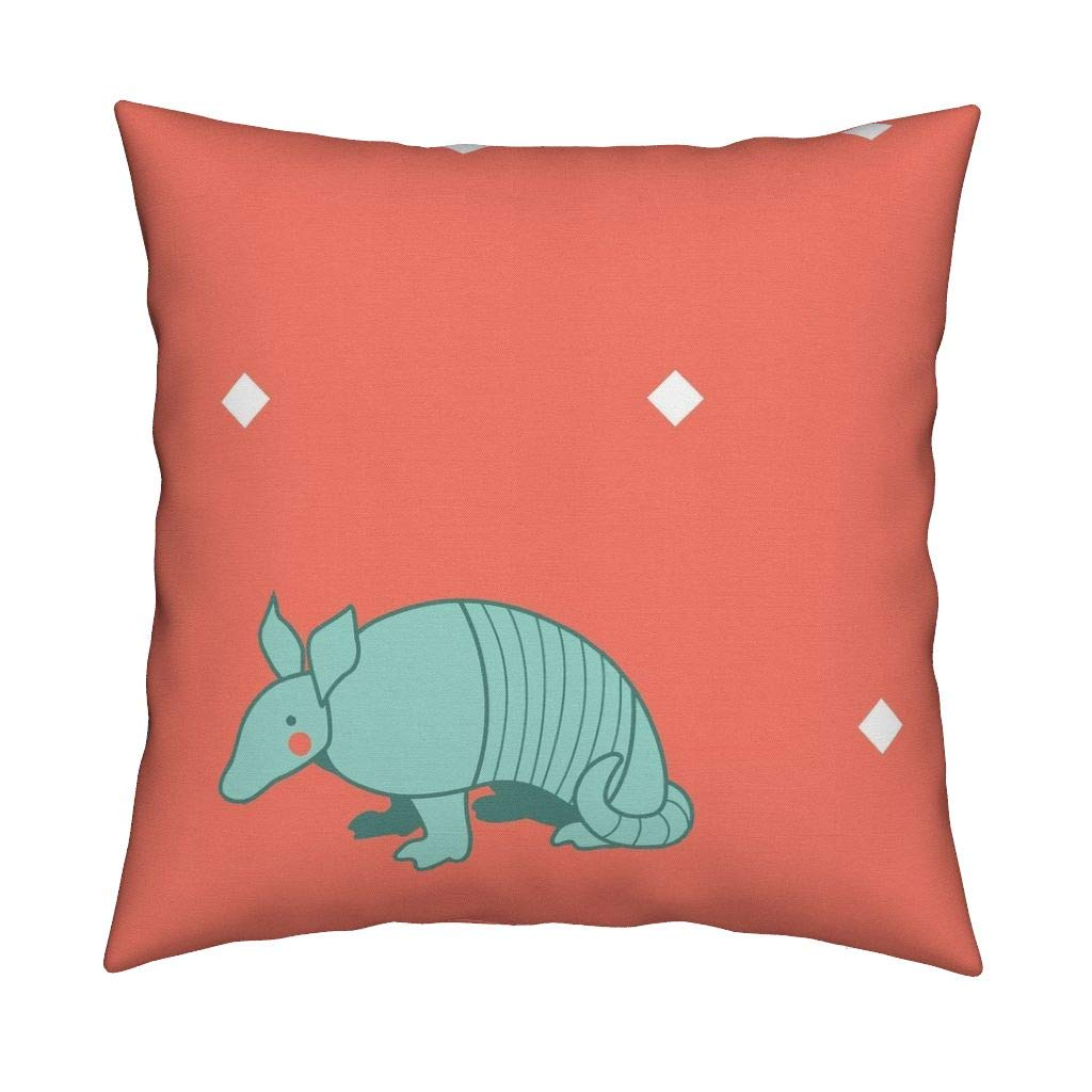 Pink Armadillo Velvet Throw Pillow Cover Baby Girl Armadillo Nursery Armadillo Southwest Geometric Baby Girl Boho Nursery Decor Summer by Mariafaithgarcia Cover w Optional Insert
