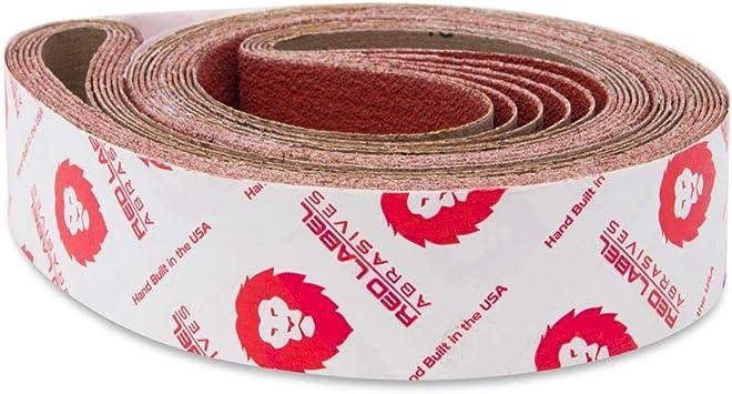 2 X 36 Inch Sanding Belts Zirconia Cloth Narrow Sander Belts 6 Pack, 24 Grit