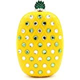 Women Acrylic Pineapple-shaped Evening Bags Purses Clutch Vintage Banquet Handbag