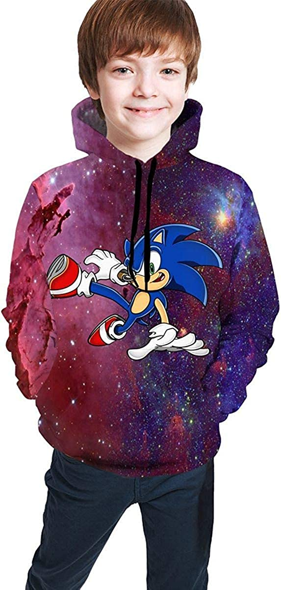 HGdggvd Teen Boys Girls Sweatshirt Hoodies Sonic The Hedgehog Athletic Pullover