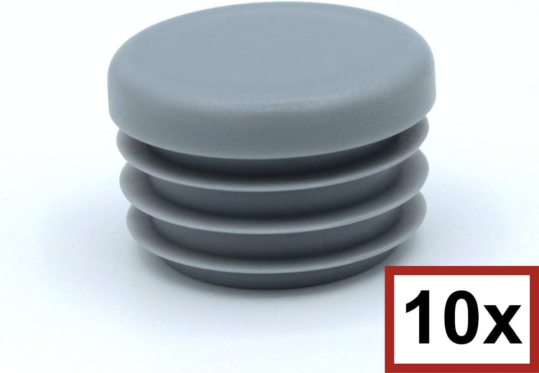 10 Piezas de tapas redondas de pl/ástico para tuber/ías tap/ón // contera // protector // funda // pata mueble di/ámetro exterior: 13mm, espesor de pared: 1-2mm, Negro tama/ños elegible de 10mm a 120mm