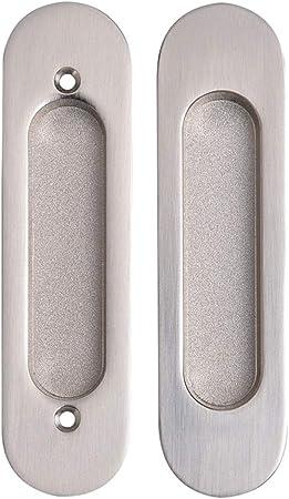 Armario Manija del cajón Aleación de zinc Manijas ocultas Manija de la puerta corrediza empotrada Manijas ovaladas negras empotradas Tirón de los dedos Grosor adecuado 39-44 mm Puerta corredera: Amazon.es: Hogar