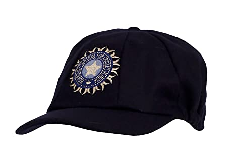 968904241a7 CLASSICAL TRADITIONAL MELTON WOOL BLUE INDIA CAP WITH TEST LOGO SMALL PEAK  BAGGY STYLE  Amazon.co.uk  Sports   Outdoors