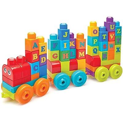 Mega Bloks ABC Learning Train Building Set: Mega Preschool: Toys & Games