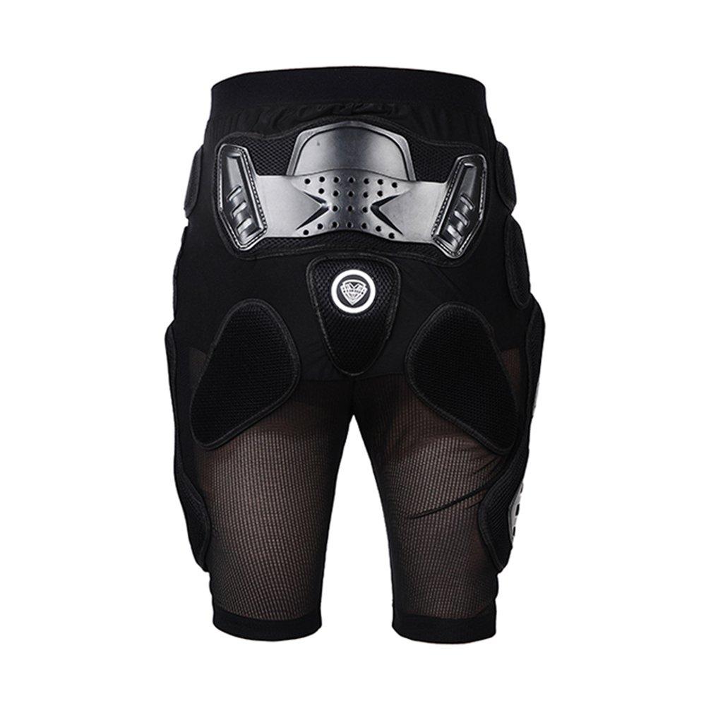 SULAITE Unisex Moto Sport Protective Gear Hip Pad Motorcross Off-Road Downhill Mountain Bike Skating Ski Hockey Armor Shorts (L)
