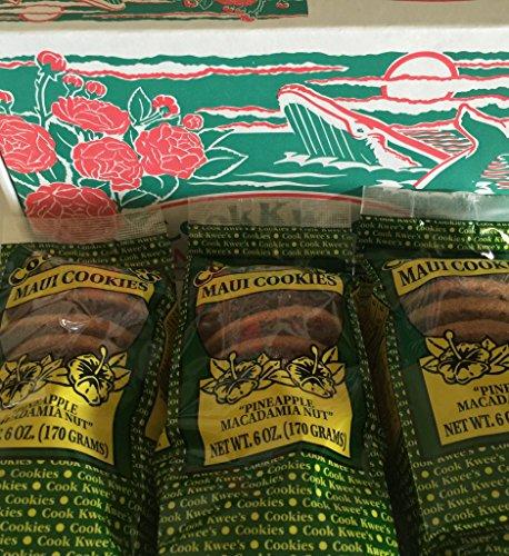 Hawaiian Macadamia Nut Cookies (The Original Maui CookKwees Hawaii Cookies 3 Pack- 6 oz. Each (Pineapple Macadamia Nut 3pk.))