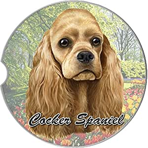"E&S Pets Cocker Spaniel Coaster, 3"" x 3"""
