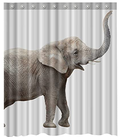 Image Unavailable Not Available For Color Long Elephant Shower Curtain
