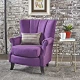 Ezra Classic Fabric Club Chair (Purple)