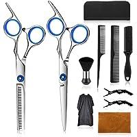 Wrei tijeras de peluquería, Conjunto Tijeras Peluquelo Profesional para el cabello, tijeras de peluquería con capa de…