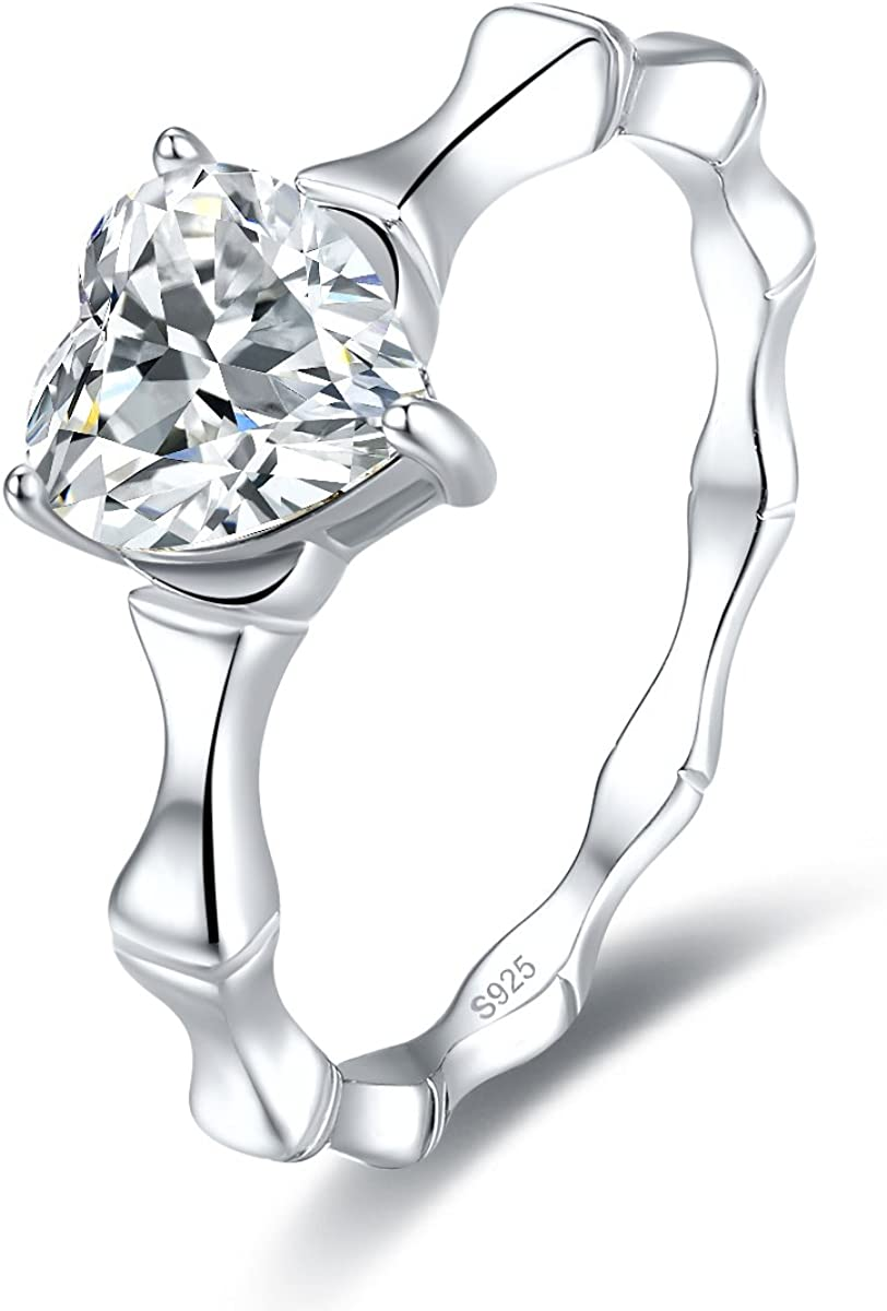 Jrose Womens 925 Sterling Silver Created Mystic Topaz/White CZ Love Heart Promise Ring