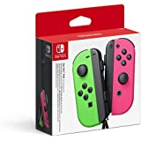 Nintendo Switch Joy Con Neon Green and Neon Pink Pair