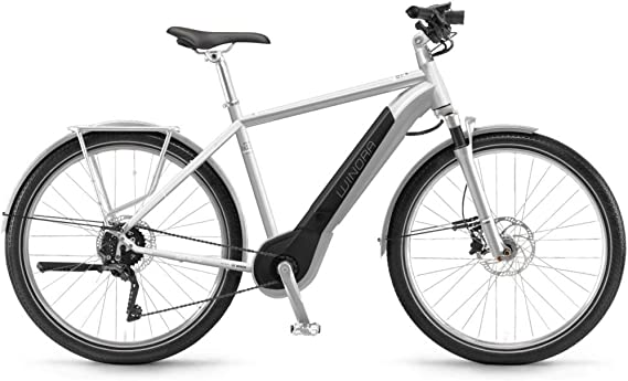 Unbekannt Winora Sinus iX11 Urban 500 WH Bosch intube Bicicleta eléctrica 2018, Color Silver Herren, tamaño 28
