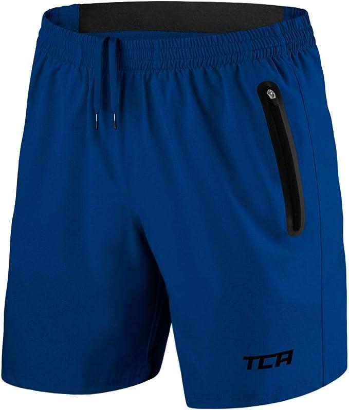 Tca Homme Elite Tech Short De Course Léger Avec Poches Zippées Amazon Fr Sports Et Loisirs