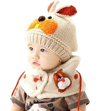 Skyeye Ensemble bonnet et écharpe d hiver pour enfants Chaud Hiver Foulard  écharpe Enfants Bébé châle Tricoté Cadeaux Noël Beige  Amazon.fr  Vêtements  et ... 202ea3b8b2d