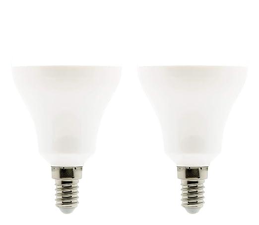 Lote de 2 bombillas LED estándar 10 W E14 810lm 2700 K (blanco cálido)