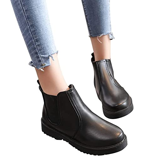 cb486eff3922 Image Unavailable. Image not available for. Color  Gyoume Winter Ankle  Boots Women ...