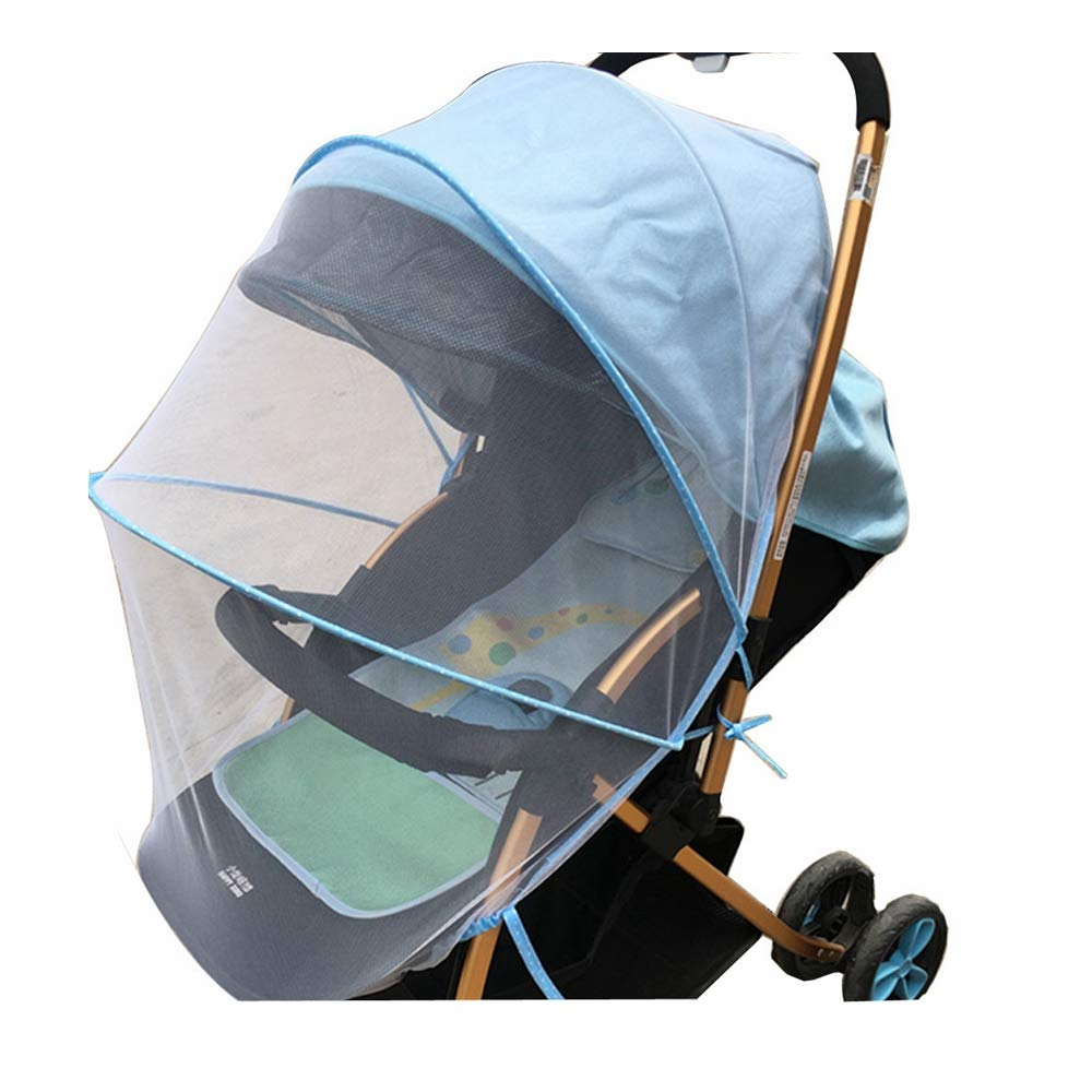 XBYEE Baby Mosquito Net for Stroller, Car Seat & Bassinet Premium, Ultra Fine Mesh Protection - Insect Net Cover Buggy Covers for Cradles Portable Infant Insect Netting (Blue)